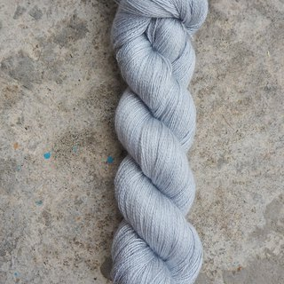 Hand dyed lace thread. Morning Ash (55 BFL/45 Silk)