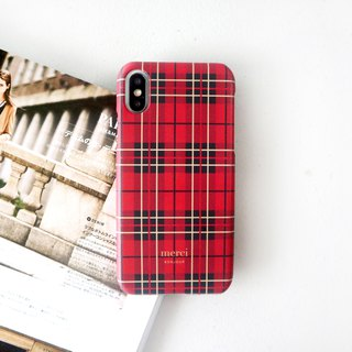 Scottish red check mobile phone case