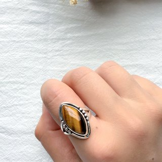 Tiger eye stone 925 sterling silver will be simple design ring Nepal handmade silver