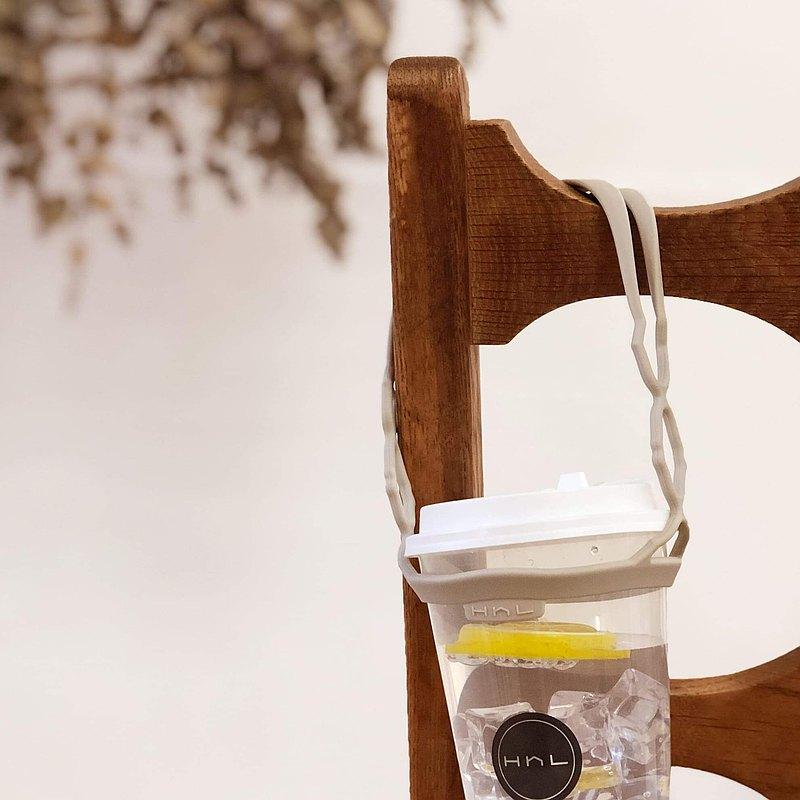 H h L【拎杯2.0】矽膠防水飲料提袋| 燕麥奶/新色/