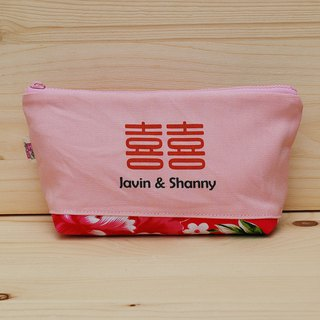 Customized _ color canvas to take home flower cloth large storage bag / large pencil case