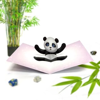 Panda Card | Panda Birthday Card | Birthday Card | Pop Up Card