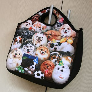 [Henry House Family] Diving Cloth Tote Bag - Happy Hundred Dogs