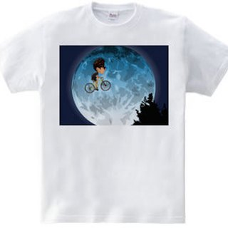 Cycling Heavyweight T-shirt until the moon white · gray