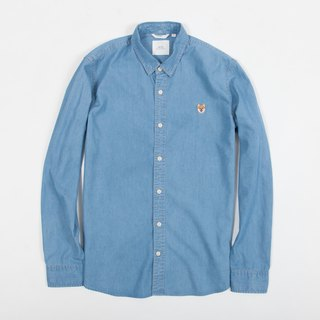 【Pjai】Embroidery Shirt - Light Denim (ST742)