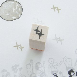 Rubber stamp  Glitter