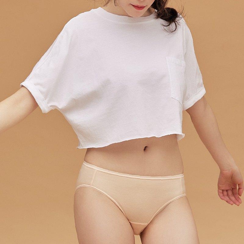 【玳蕾綺】消臭抑菌天絲棉內褲-中腰三角款式(2入) 膚色
