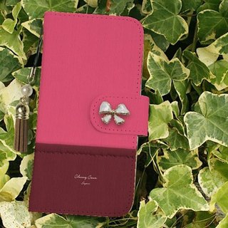 【All models supported】 Free shipping 【notebook type】 with fabric pink and wine red tassel strap