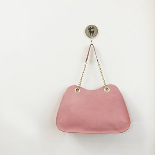 Pink Mountain Yamagata Side Chain Bag Cowhide Can Hold A4 Pink Purple/Deep Powder