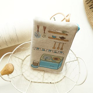 Hand drawn dreaming baking kitchen phone go out package
