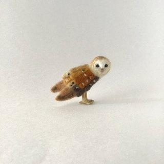 Barn Owl brooch