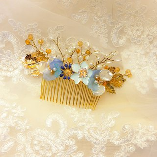 Wearing a happy autumn Qiu Feng rice series - the bride comb. French comb. Buffet Wedding - Blue Lake