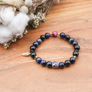 Blue Eye Bank | Blue Tiger Eye Black Agate Blue Sand 3A Black Tiger Eye Natural Stone Bracelet