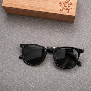 Japanese sunglasses sunglasses in gold full titanium metal polarized uv400 black gray