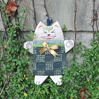 Too happy cats hanging ornaments bag