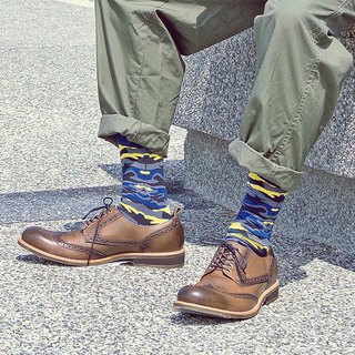 Men's Socks - Invisible Sea - British Design for the Modern Gentleman