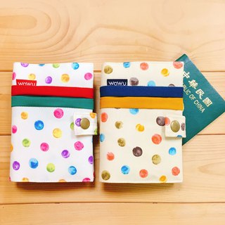 WaWu Passport Cover (Color Dot / Pair) Customized*