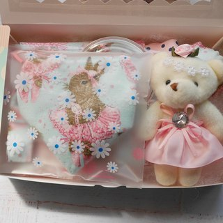 Bunny Gift set pacifier towel pacifier pouch Bear doll