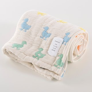[Japan made immediate crepe] six heavy yarn towel - colored duck