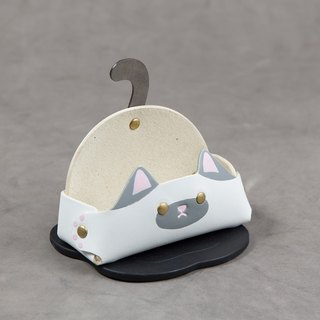 Animal Series - Business Card Holder / Mobile Phone Holder (Wide Edition - Siamese Cat)