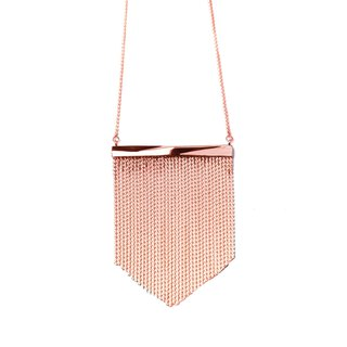 Facade rose gold fringe neck
