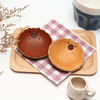 Chubby leather handmade biscuits jewelry plate (single entry)