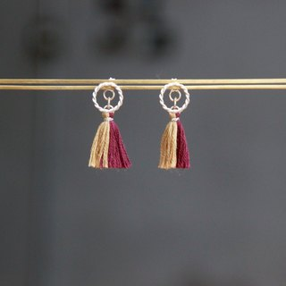 Gaze Design ▪ Planetary Tassels Series ▪ Pluto ▪ Handmade 925 sterling silver earrings | tiny tassels earrings | accessories