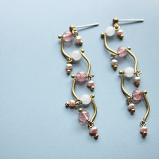 Drop - earring  clip-on earring