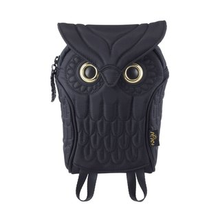 Morn Creations Genuine Owl Waist Bag - Black (OW-304-BK)
