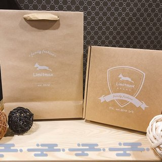 Kraft paper gift box packaging combination [gift box + bag]