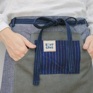 Brut Cake Handmade Textile - Cot Half Body Canvas Pocket Apron, Kitchen, Work At Home, Staff Available, Durable Good Wash (3)