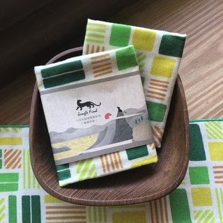 Jungle Find Jungle Find 【Jungle Seeking Series】 Cotton Print Handkerchief - Taitung Pool On Rice (Box)