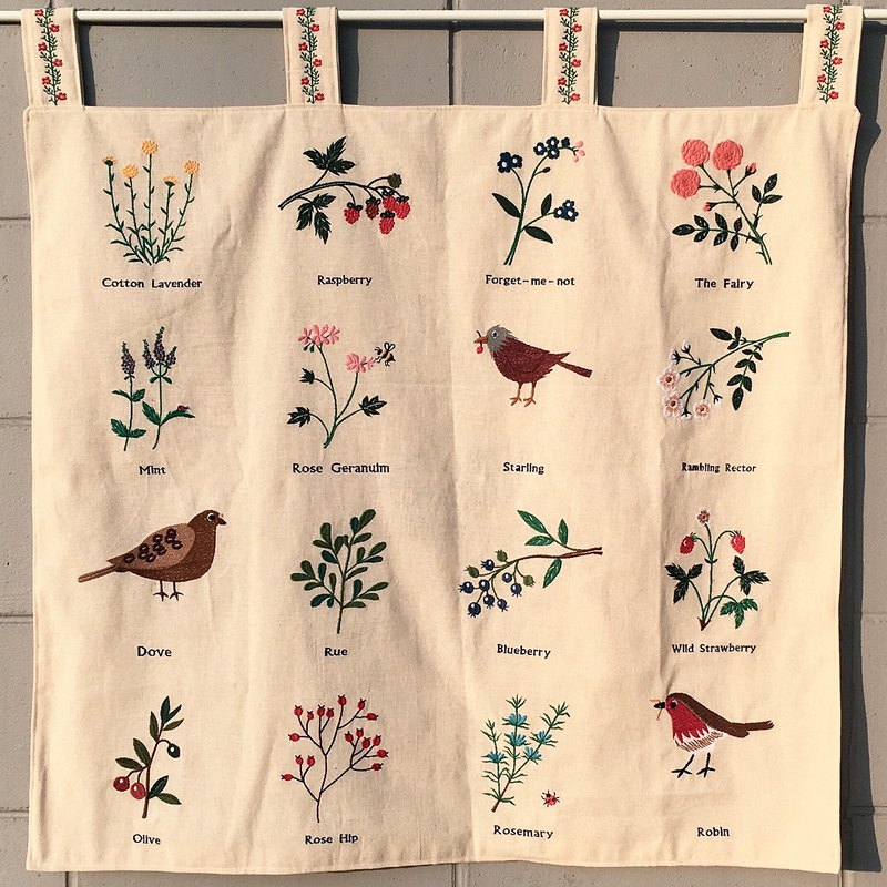 Gardenlike Embroidered Curtain