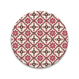 Old House Eye – Sea Embossed Glass Absorbent Coaster – Red