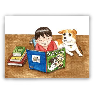 Hand drawn illustration Universal / Postcards / Cards / Illustration Cards - My Dog Friends
