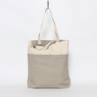 Five-bag canvas bag is especially easy to use - khaki brown