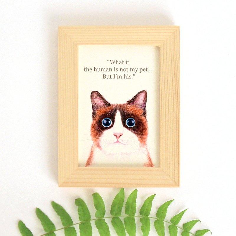 貓思貓言喵語小幅迷你裝飾畫 給貓咪貓奴的禮物 Ragdoll 布偶貓