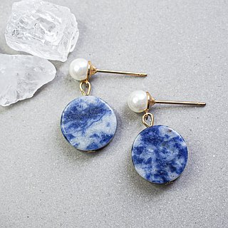 Vintage Blue colour stone earring