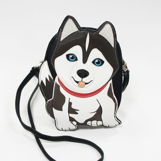 Sleepyville Critters - husky dog Crossbody Bag
