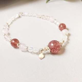 MH Sterling silver natural stone custom series _ sweet bomb _ strawberry crystal