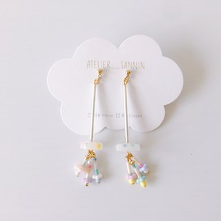 Early Summer Hanging Flower Series - Hanging Snapdragon Drop Earrings Ear Ears/Ear clips