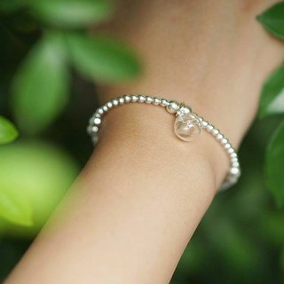 [Dandelion | the seeds of the air] dandelion silver sterile silver bracelet