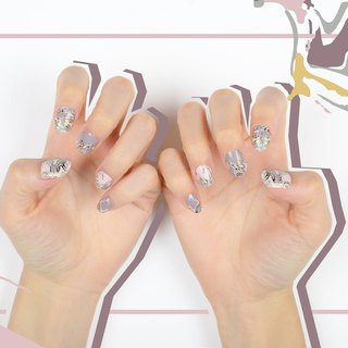 Marbled Movement Nail Wraps / Designer Nail Stickers ( 22pcs)