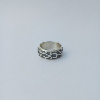 【Hongsheng jewelry】 Leopard texture silver ring
