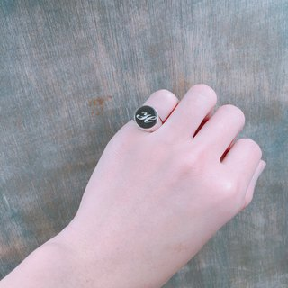 Letter stamp ring (both men and women)