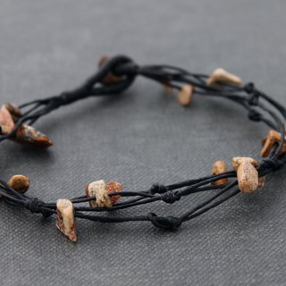 Knotted Stone Bracelets Basic Brown Jasper Beaded Bracelets