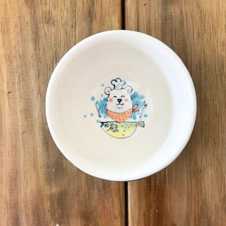 Snow Beard underglaze painted hand-pulled blank bowl series 1