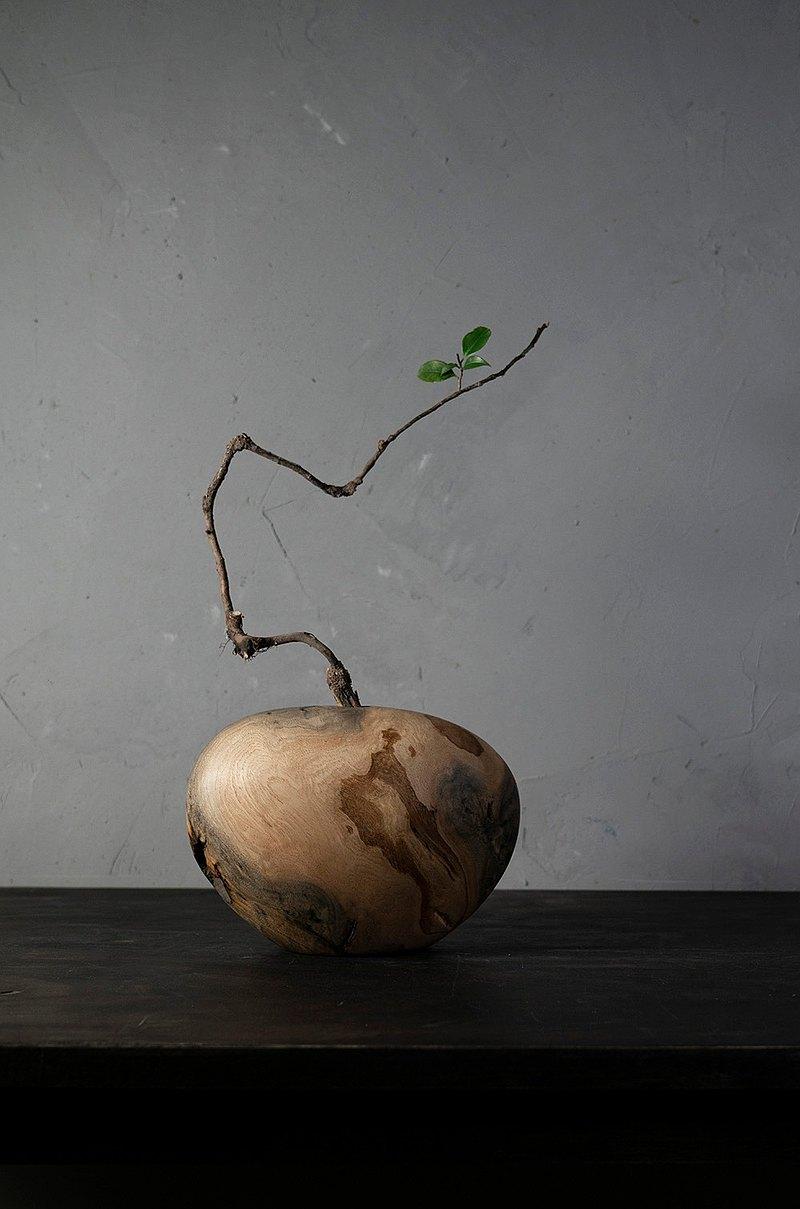 手工木製花器花瓶插花花藝擺飾015號板栗木