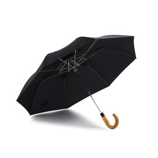 [German kobold] Anti-UV Classic Ruler Duke Umbrella Maple Handle 20% Automatic Umbrella - Dark Gray Blue