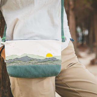 Nantou Tea Garden & Mountain Sunrise - Side Back Zipper Bags